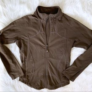 Lululemon Brown Full Zip Jacket Sweatshirt